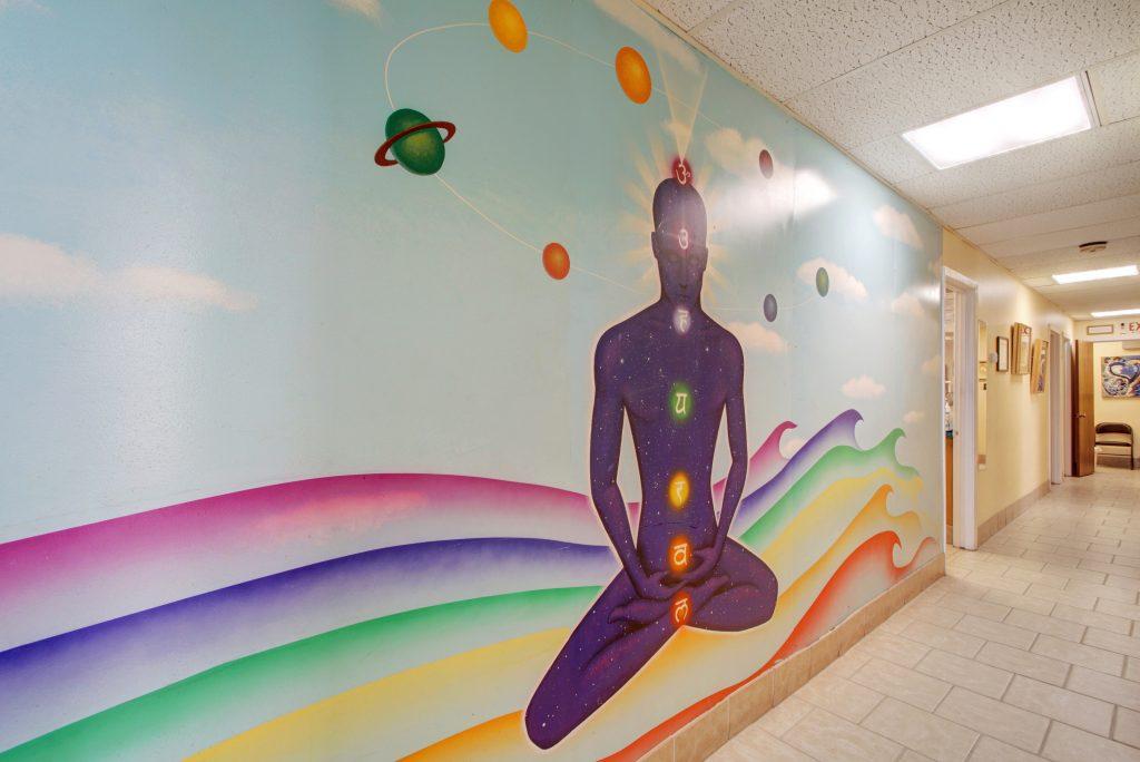 hall in Joan Sefcik's Austin biological dental office