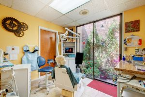 operatory at Dr. Joan Sefcik's biological dental office Austin